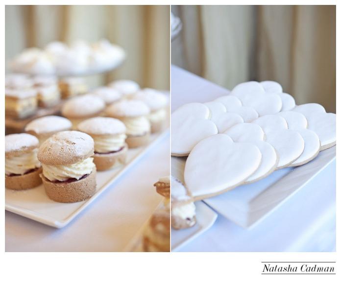 Vintage bus.White wedding. Burlap. Clifton Church. East Keswick. White hydrangeas.White dessert table