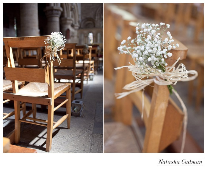 White wedding. Burlap. Clifton Church. East Keswick